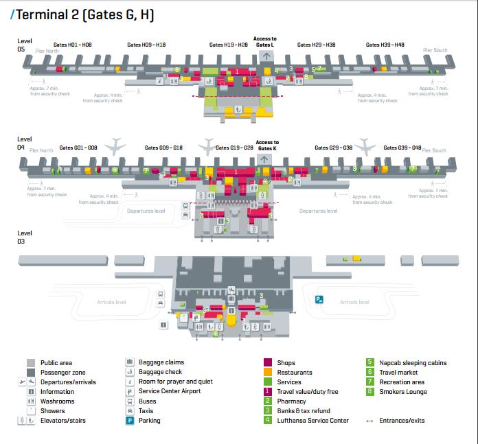 Munich Airport Reviews Terminal Map LAI Pinterest