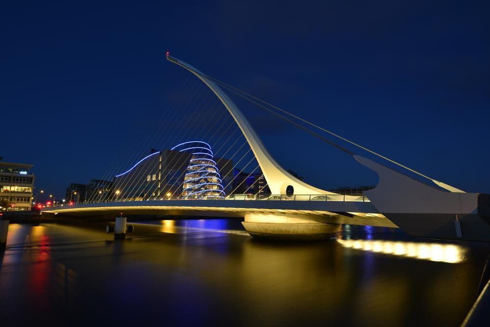 Samuel Beckett Bridge, Dublin in Colour by Ann