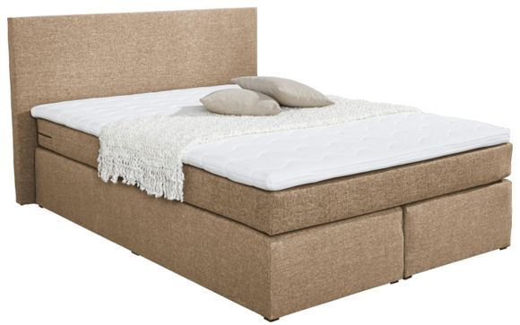 Das trendige boxspringbett virginia darf in ihrem schlafzimmer nicht fehlen wie bequem es - Schlafzimmer hellbraun ...