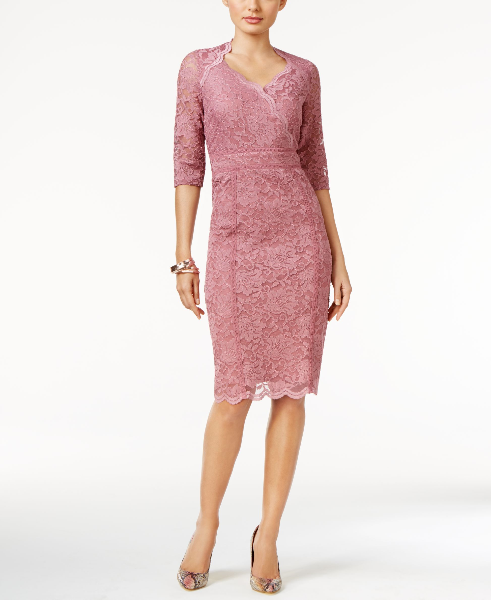 Thalia Sodi Lace Empire Sheath Dress, Only at Macy\'s | Dresses ...