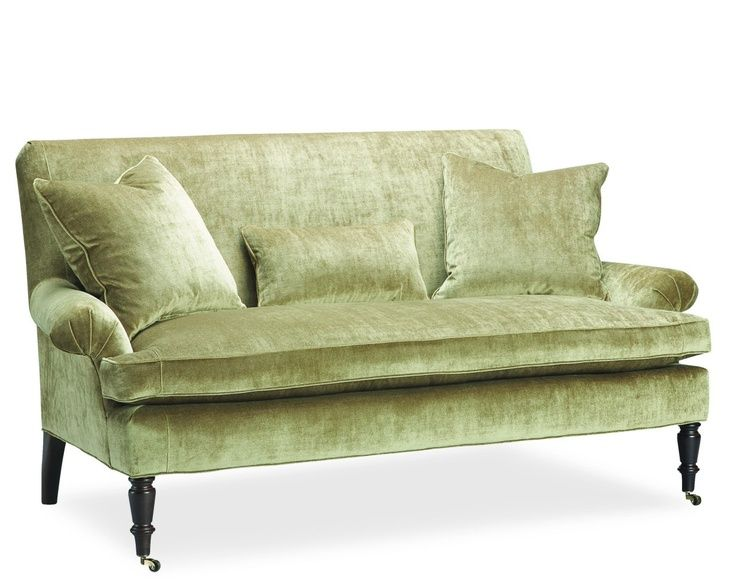 Laura Ramsey Interior Design Lee 1009 02 Celery Green Sofa Www