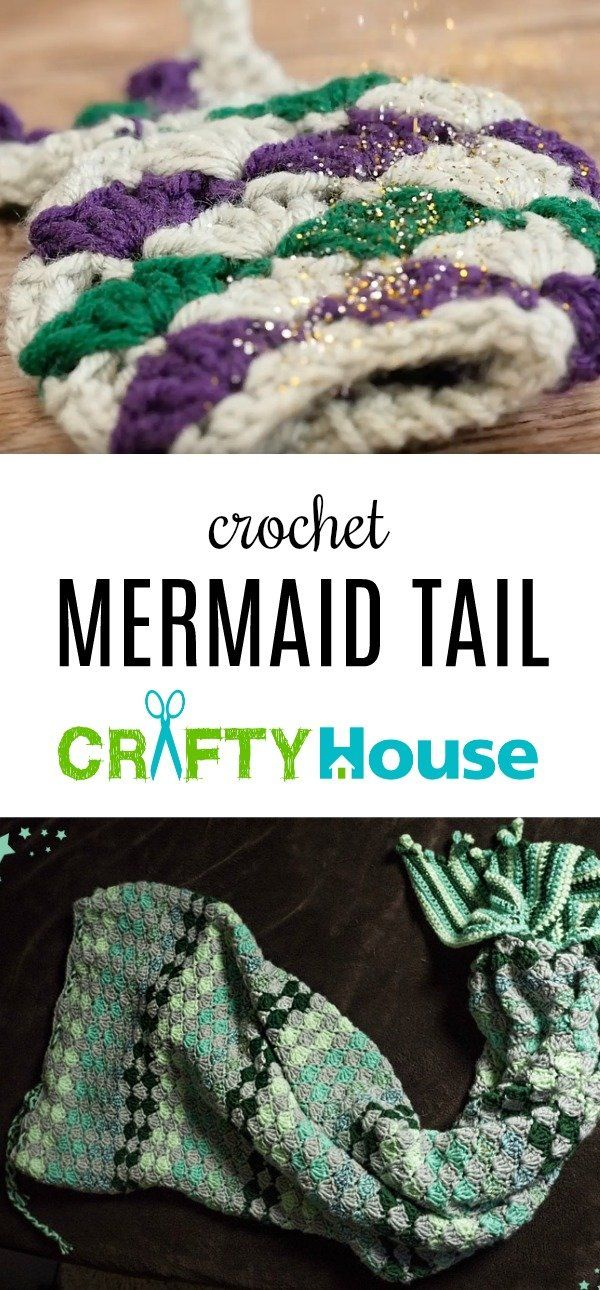 Free Crochet Mermaid Tail Tutorial And Pattern!