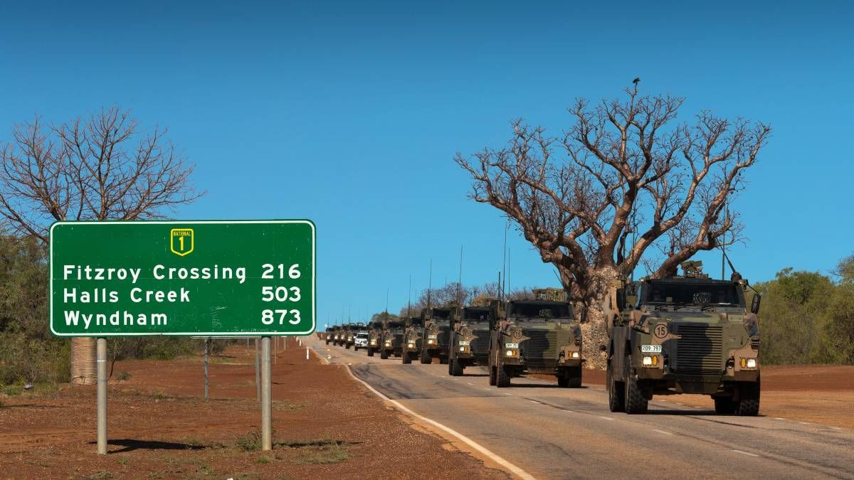 Australian Army Bushmaster protected mobility vehicles