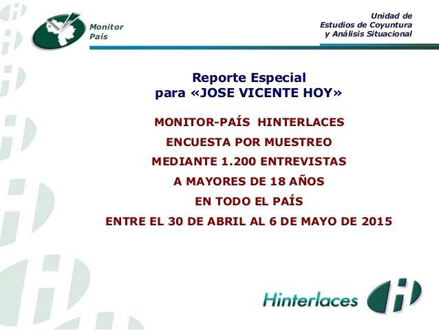 Monitor País  - Liderazgos en la oposición (al 6 mayo 2015) by hinterlaces via slideshare