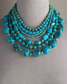 Turquoise necklace design