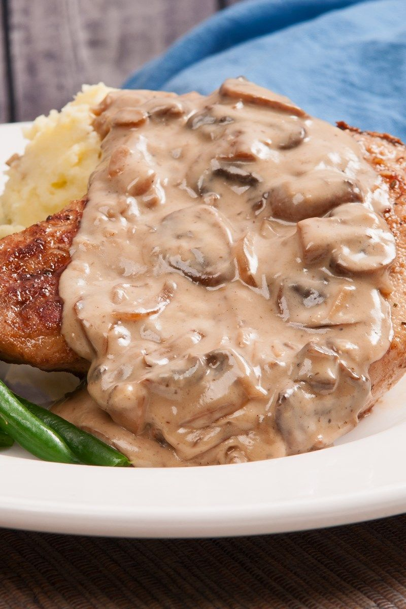Instant Pot Pork Chops With Mushroom Cream Sauce Recipe Pork Chops Instant Pot Recipe Instant Pot Pork Chops Mushroom Pork Chops