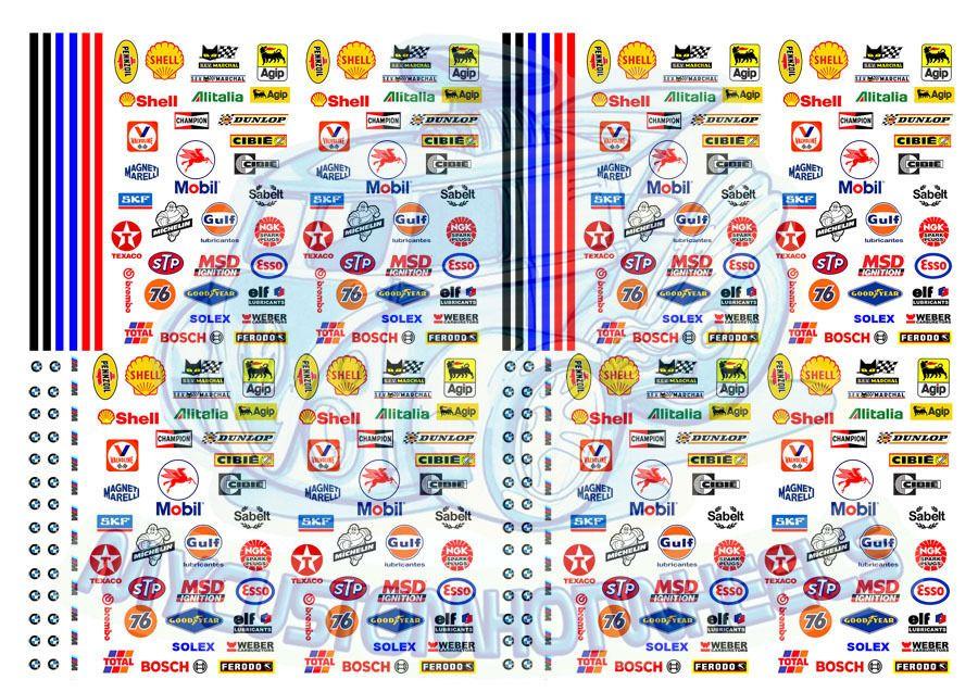 Racing Pack 1 Race Stripes Generic Racing Decals For Hot Wheels 1 64 Cars Custom Hot Wheels Hot Wheels Decal Paper