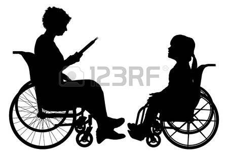 Ninos Discapacitados Vector Silueta De Una Mujer En Una Silla De Ruedas Discapacitados Siluetas Ilustraciones