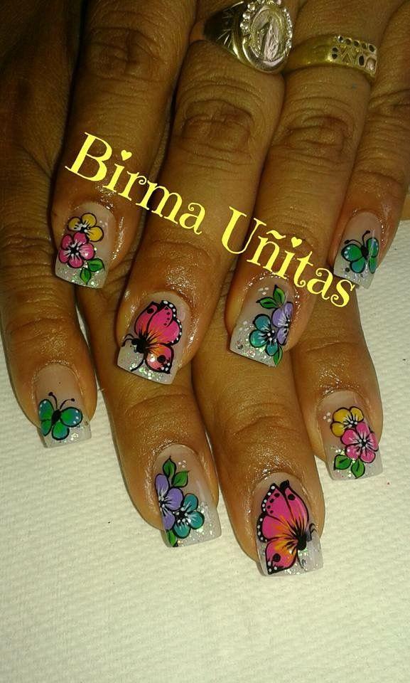 Pin by Maria Morales on Uñas decoradas | Pinterest | Hot nail ...