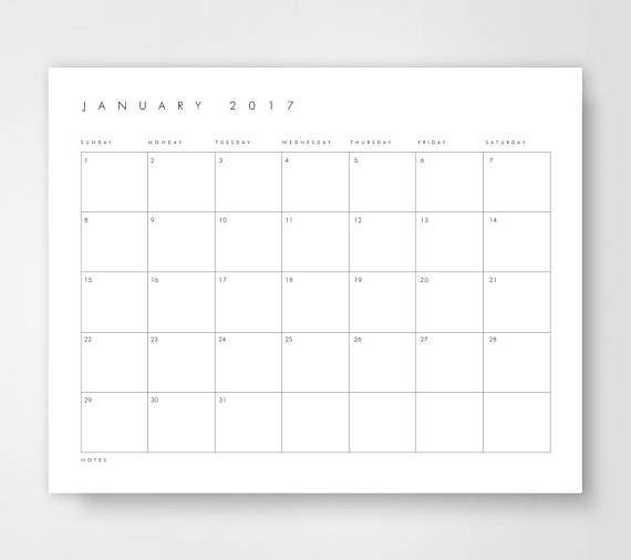 Large Desk Calendar 2018 Calendar Printable Calendar Large Desk Calendar Desk Calendars Calendar Printables