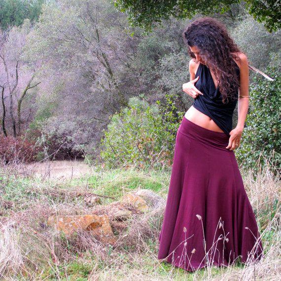 Long Circle Fairy Skirt, gypsy skirt, hippie, Bohemian Princess, Ethnic circle skirt, panel, dance. $65.00, via Etsy.