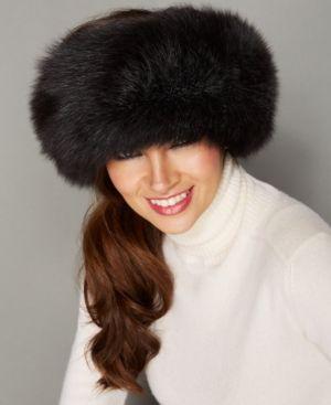 a8a2c400a24 The Fur Vault Fox Fur Headband - Black
