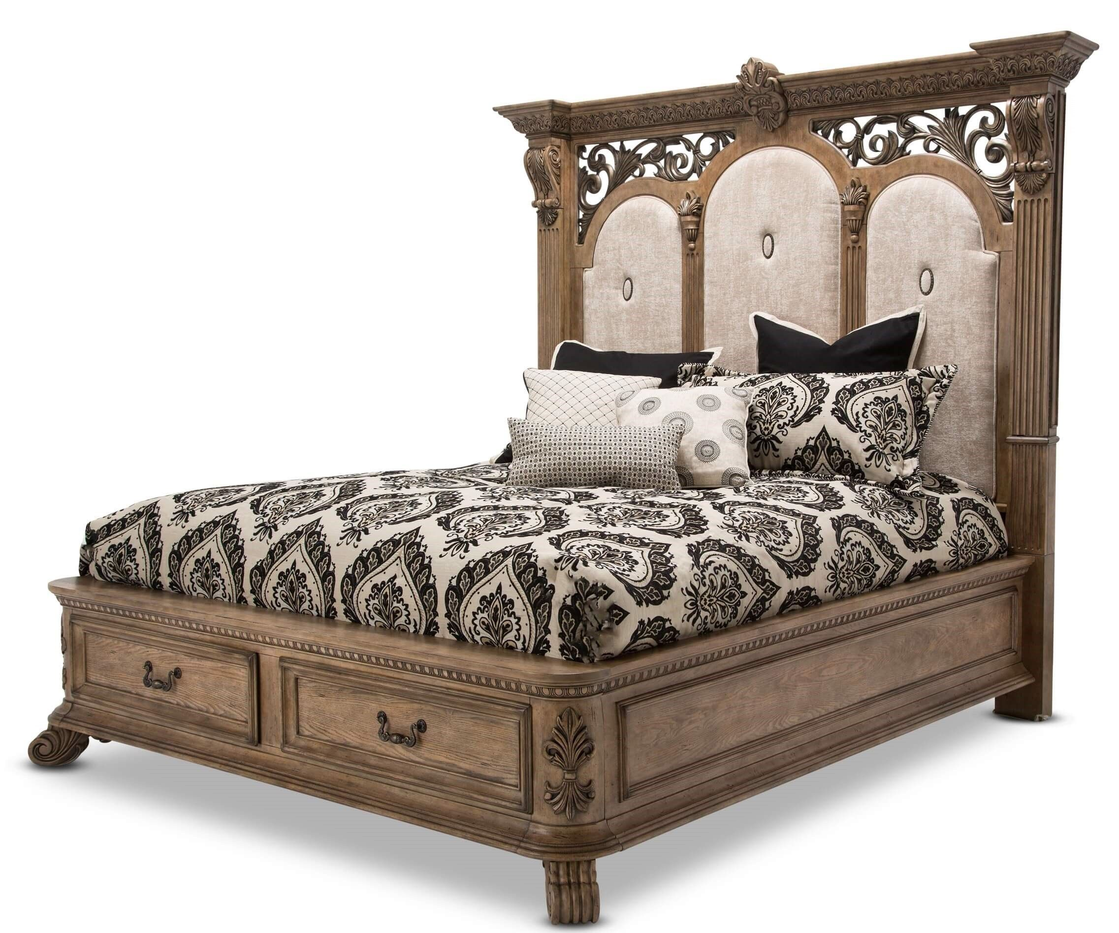 4 Piece Michael Amini Eden S Paradise Poster Bedroom Set