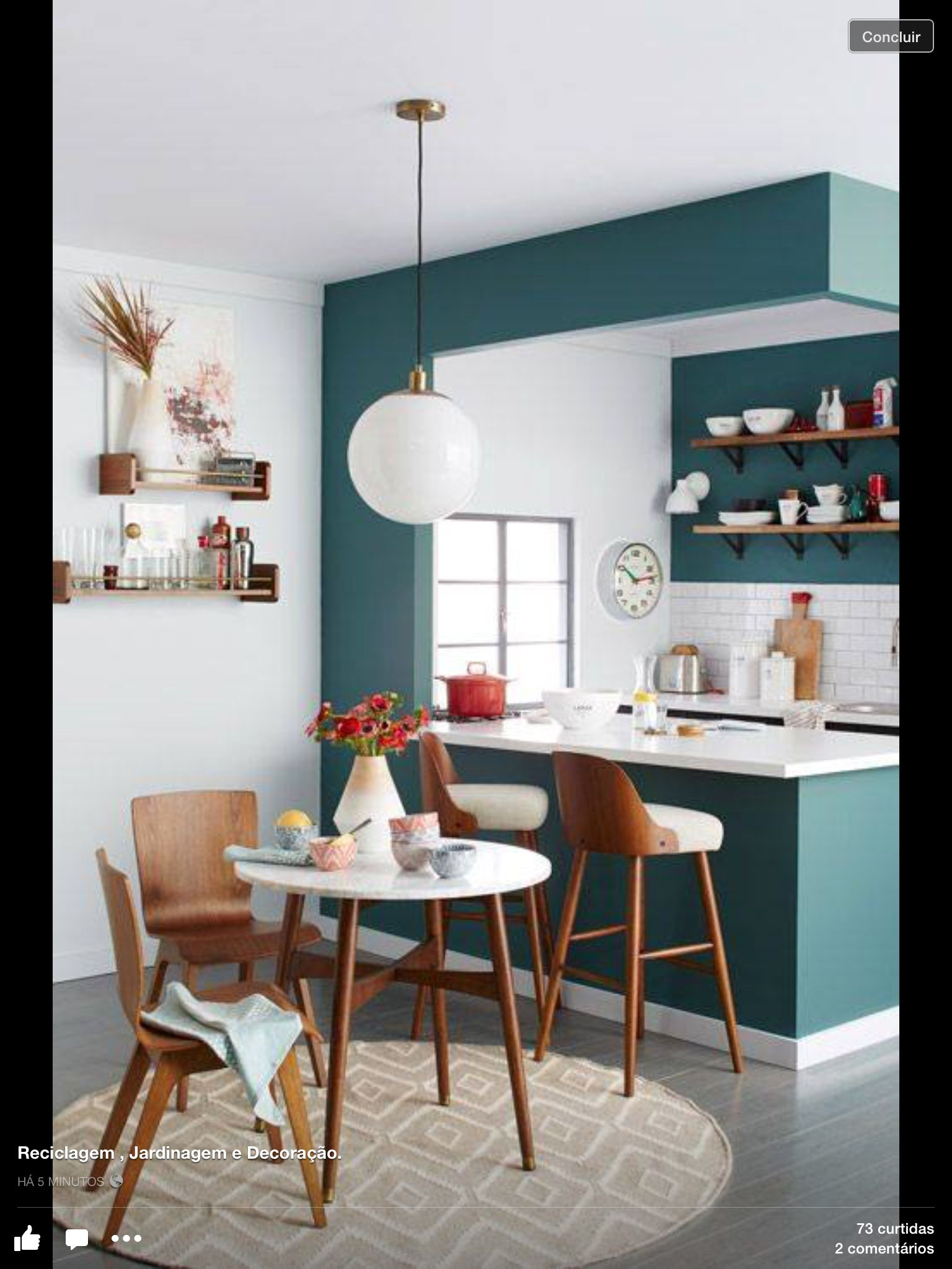 Cozinha  Ev  Pinterest  Open Kitchens Mint And Kitchens Fascinating Open Kitchen Wall To Dining Room Inspiration