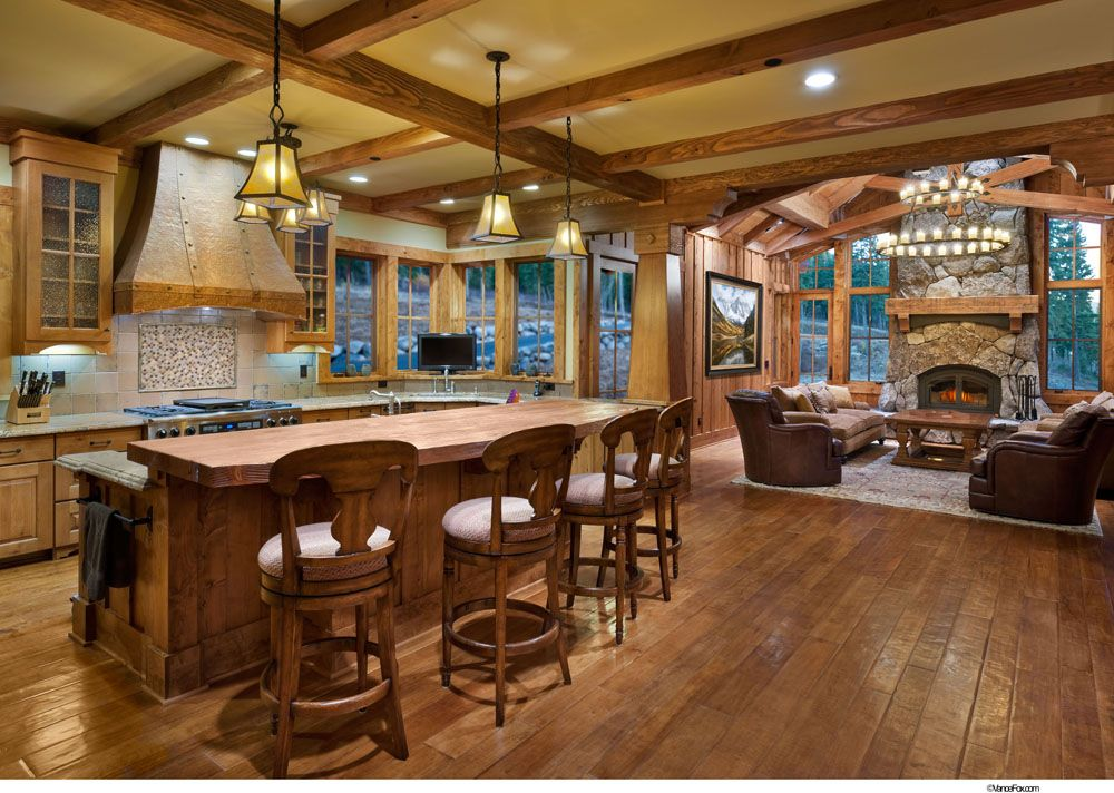 Exceptional Pretty Classic Mountain Home Design Lake Tahoe Listed In: Apartment Therapy  Dining Room, Apartment Living Room And Apartment Luxebar Dining Room