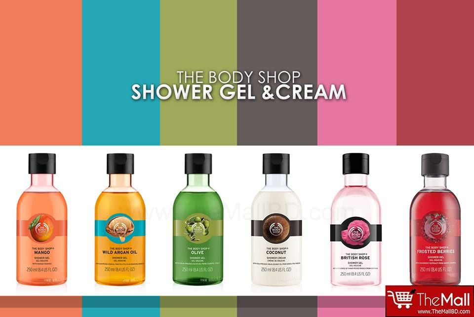 The Body Shop Shower Gel Cream Clean Up With The Range Of