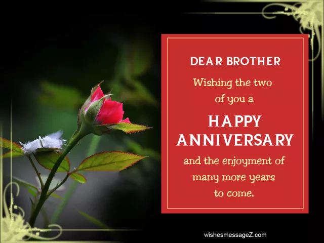 Happy Wedding Anniversary Wishes For Brother Happyweddinganniversary Hap In 2020 Happy Wedding Anniversary Wishes Wedding Anniversary Wishes Happy Anniversary Wishes