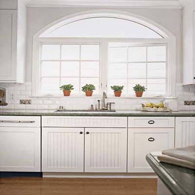White Beadboard Kitchen Cabinets In 2019