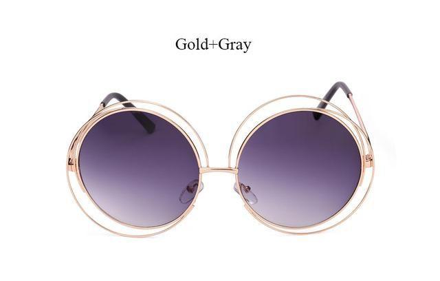 c4074a74f3872 Retro Oversized Mirror Sunglasses