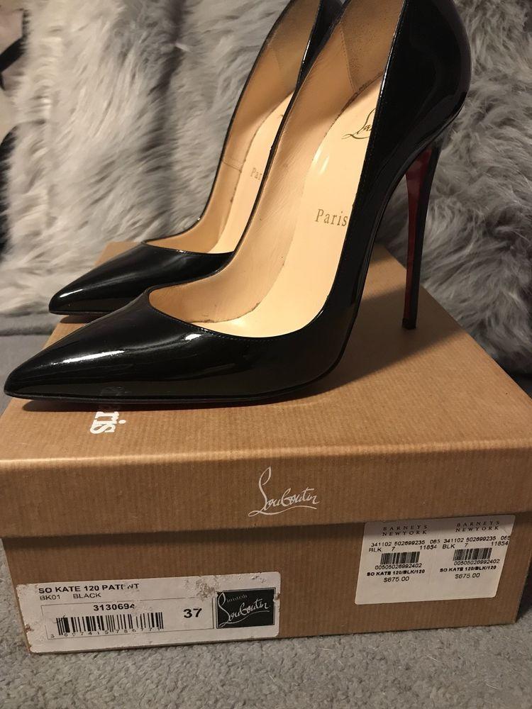 b94224052d4 Christian Louboutin So Kate 37 Black Patent 120mm #fashion #clothing ...