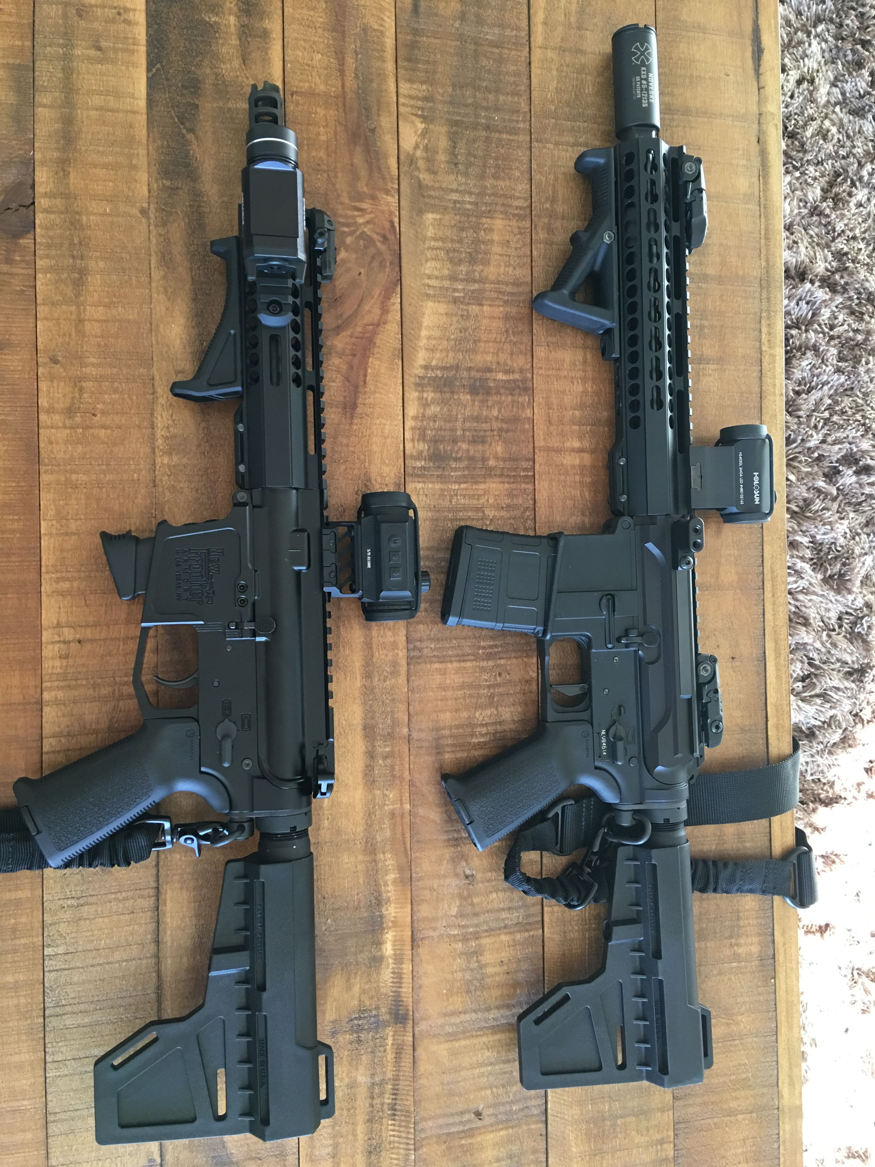 My Ar 15 and AR 9 pistols     build around New Frontier Armory