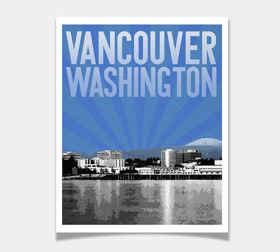 Vancouver Washington City Skyline 8 X