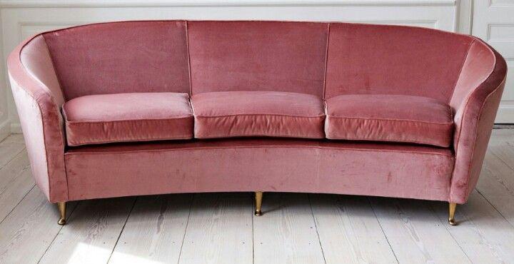 Curved 1950's Italian sofa
