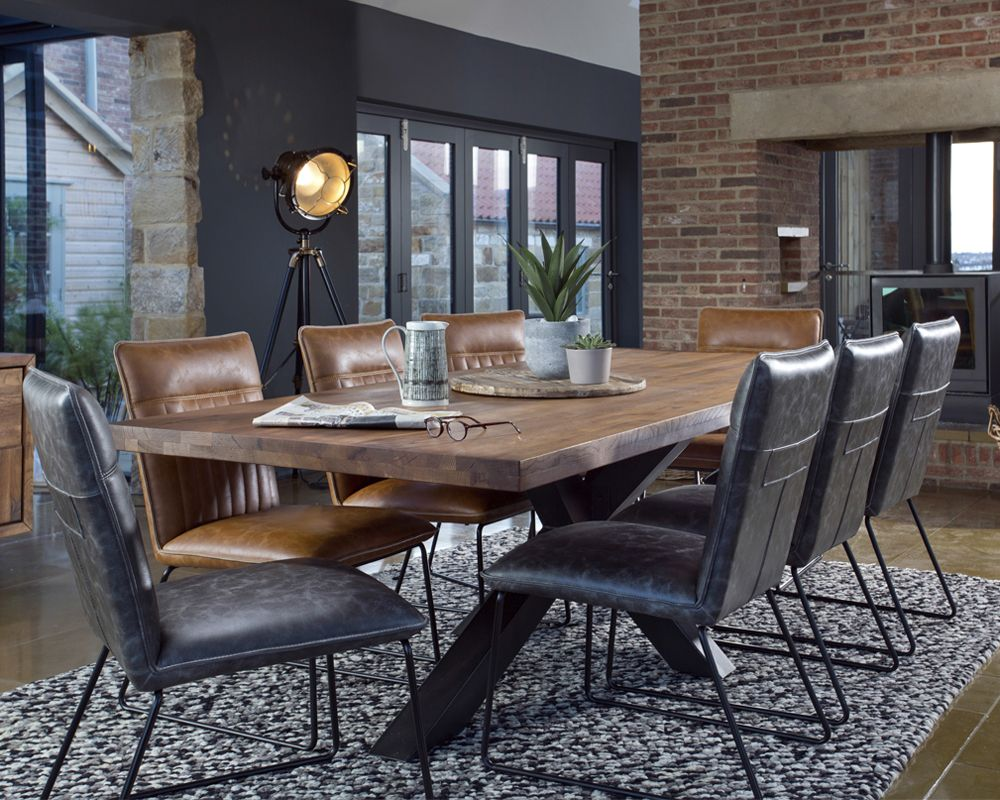 York Holburn Dining Table Leather Dining Chairs Solid Oak Dining Table Dining Table Legs