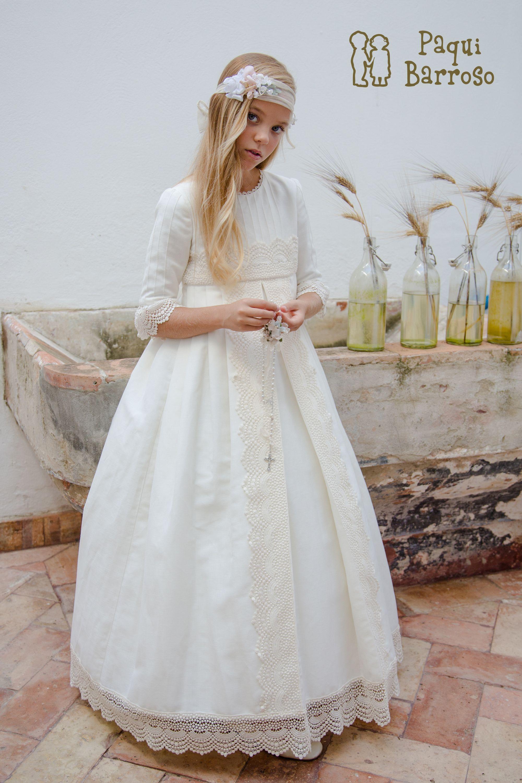 Vestidos comunion paqui barroso 2019