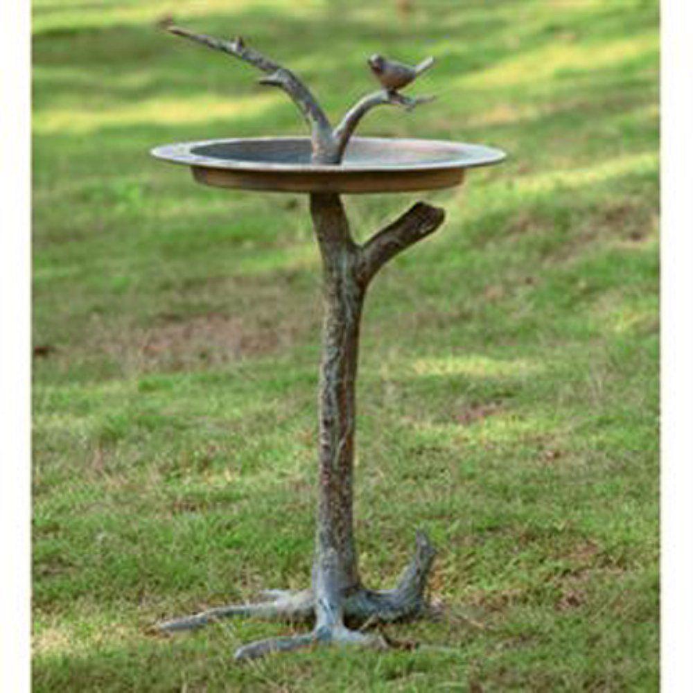 Amazon Com Spi Home 33303 Bird And Twig Sundial Birdbath Patio Lawn Garden Bird Bath Contemporary Bird Baths Metal Bird Bath