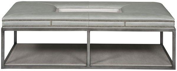 YES Vanguard Furniture: Wayland Large Rectangular Metal Ottoman