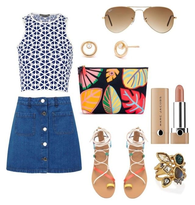 """summer"" by camilabricattet ❤ liked on Polyvore featuring Tory Burch, Alexander McQueen, Miss Selfridge, Alexis Bittar, Marc Jacobs and Ray-Ban"