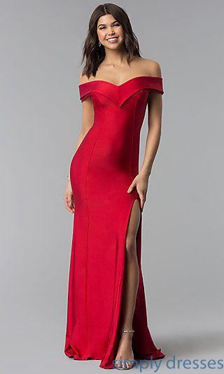 6ebb1d77c1d2 Princess Cut Off-the-Shoulder Long Atria Prom Dress | prom 2k18 ...