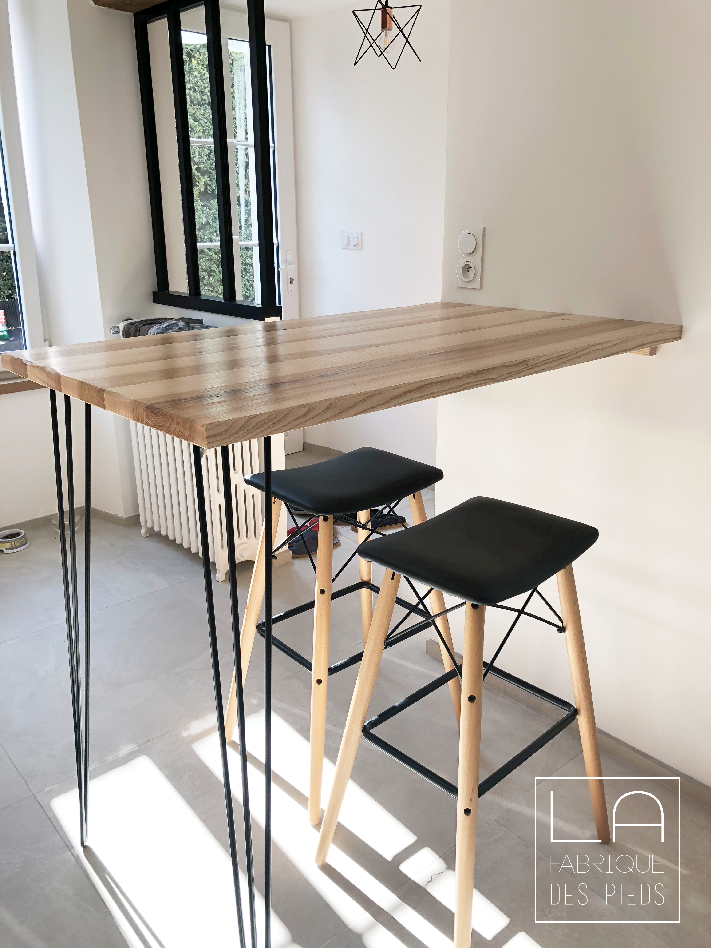 Pied De Table 3 Tiges 110 Cm Hairpin Legs Table Haute Cuisine Table Bar Cuisine Table Haute Mange Debout