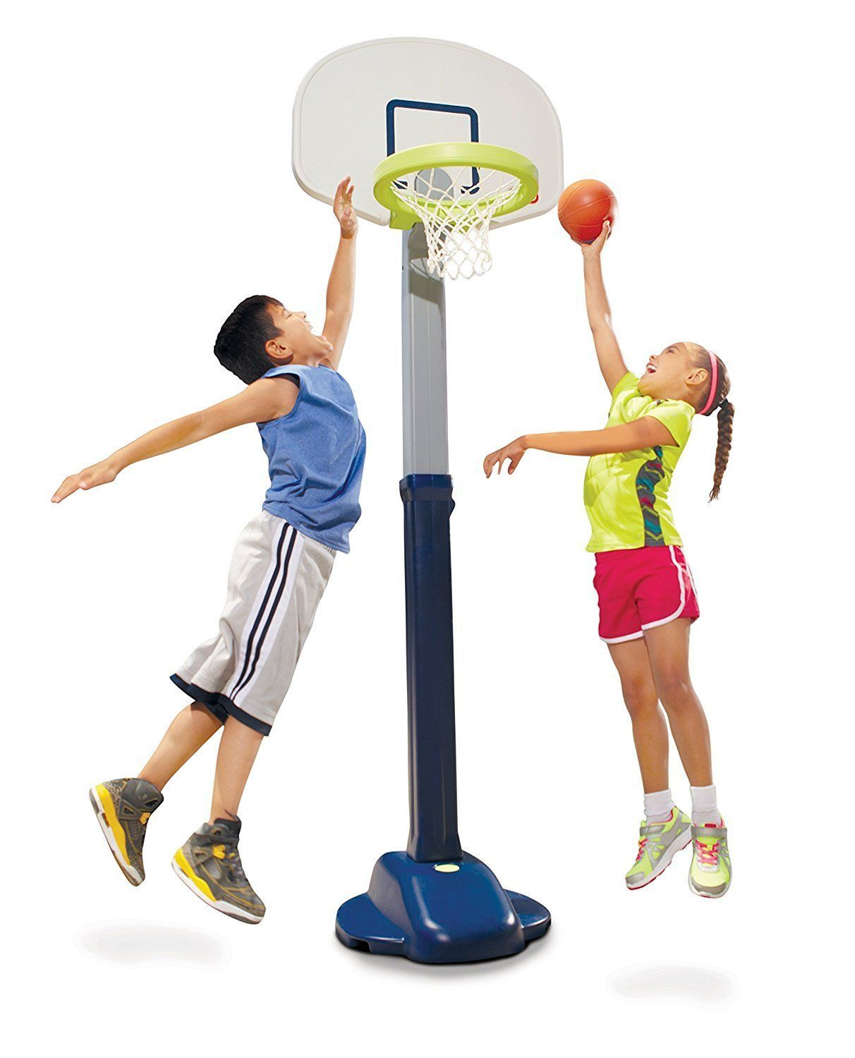 Little Tikes Adjust And Jam Pro Basketball Set Blue (With
