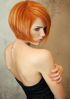Gestufter Bob Orange-Rot