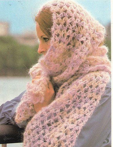 Mohair Scarf Crochet Pattern | Häkeln