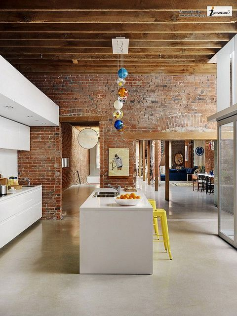 Modern Interior Design For Heritage Building White Kitchen