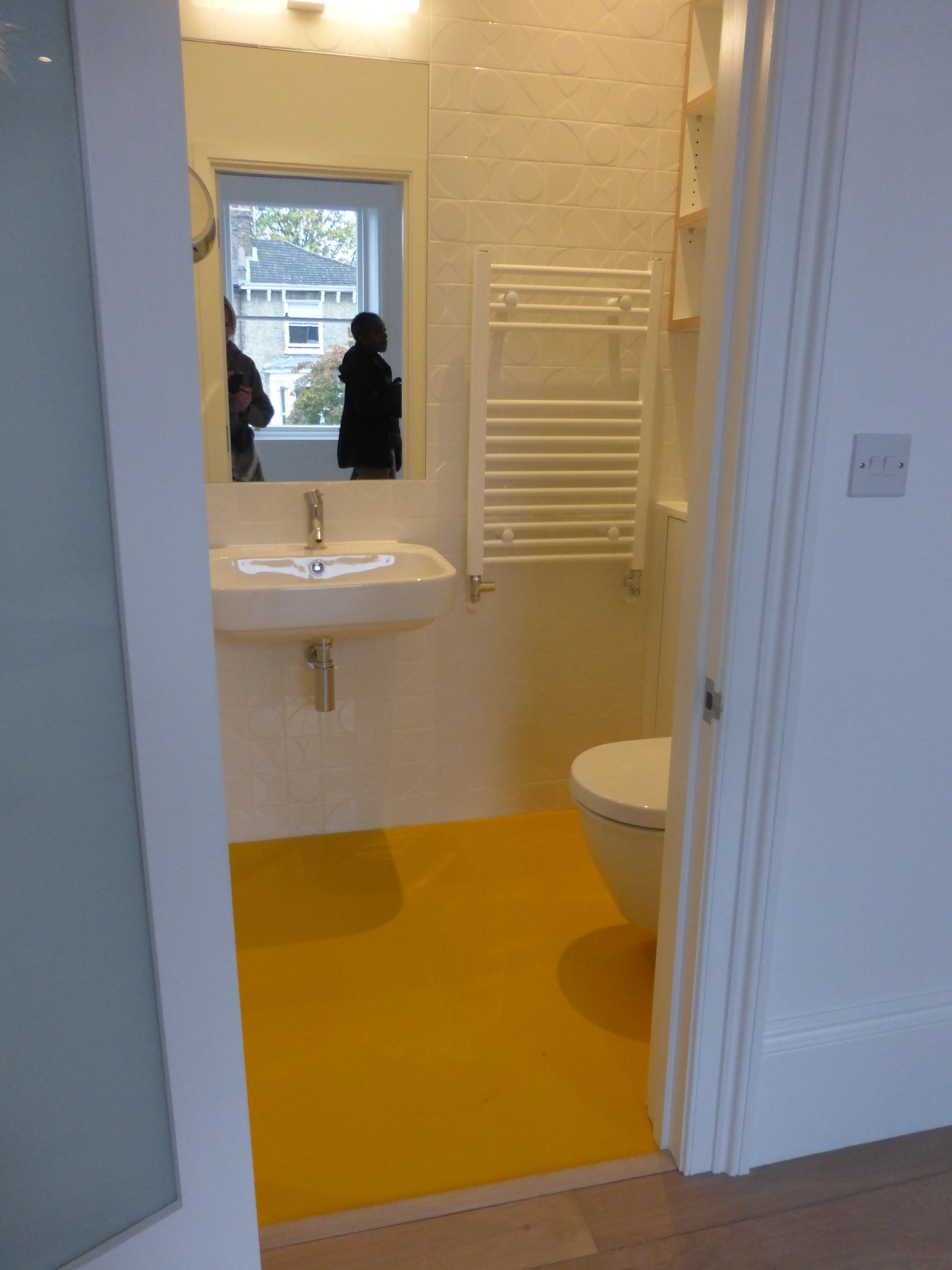 Springfield Yellow Rubber Bathroom flooring, bright