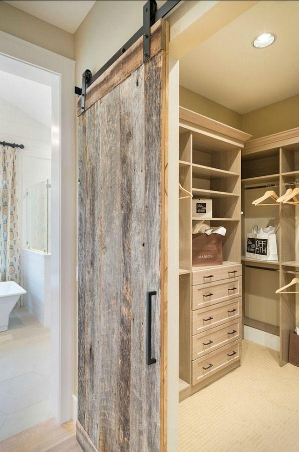 Sliding Barn Door Ideas To Get The Fixer Upper Look Closet Remodel Barn Door Designs Interior Barn Doors