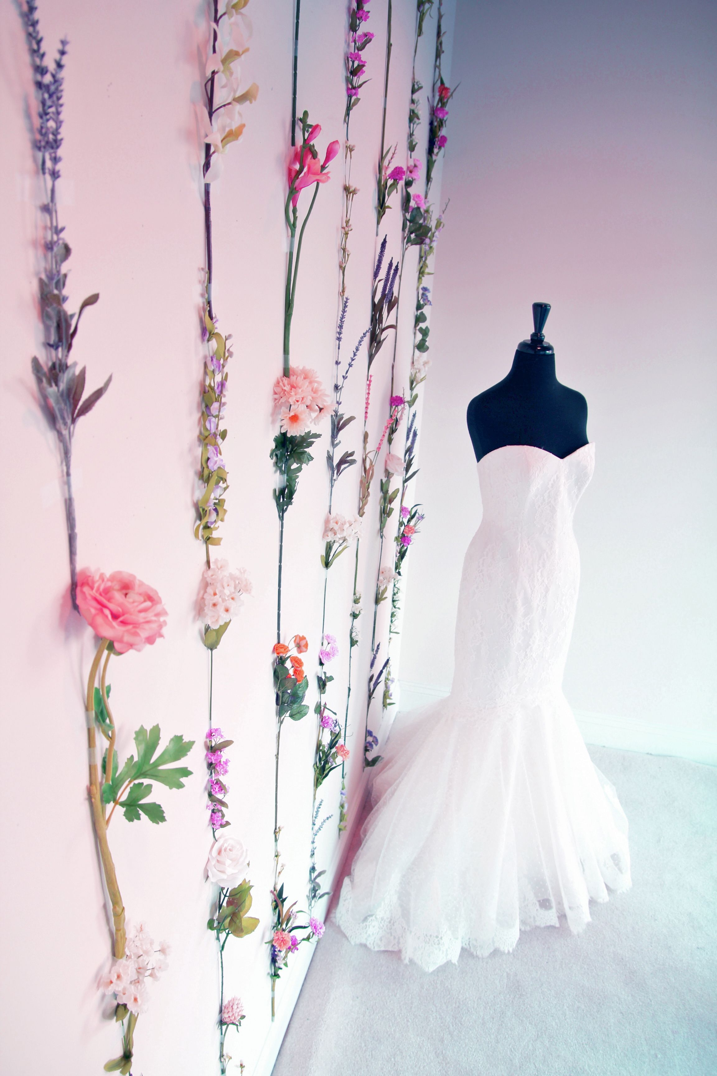 Spring Window Display At Soliloquy Bridal Couture By Sarah Park