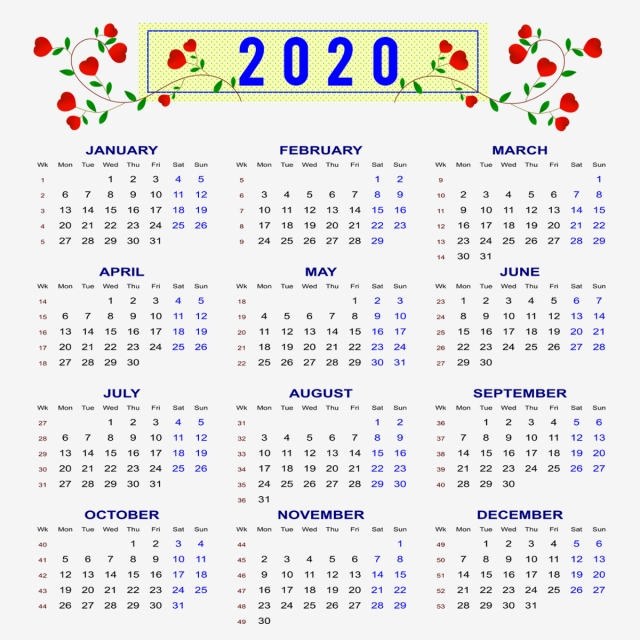 2020 Calendar 2020 Calendar Calendar 2020 Calendar 2020 Png And Vector With Transparent Background For Free Download Calendar Design Template Graphic Design Background Templates Calendar Vector