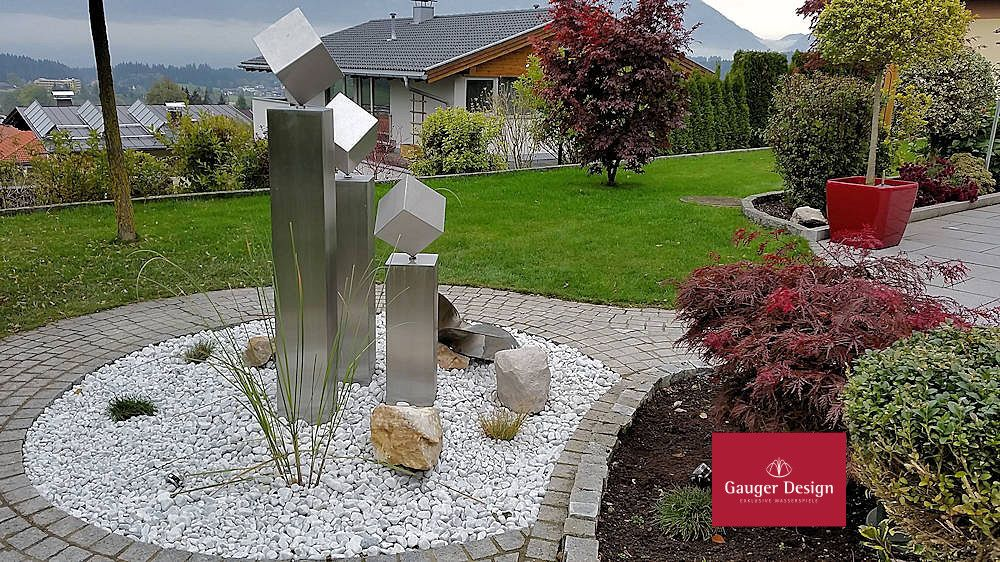 Gartenbrunnen Edelstahl Benita #garten #Wasserspiel