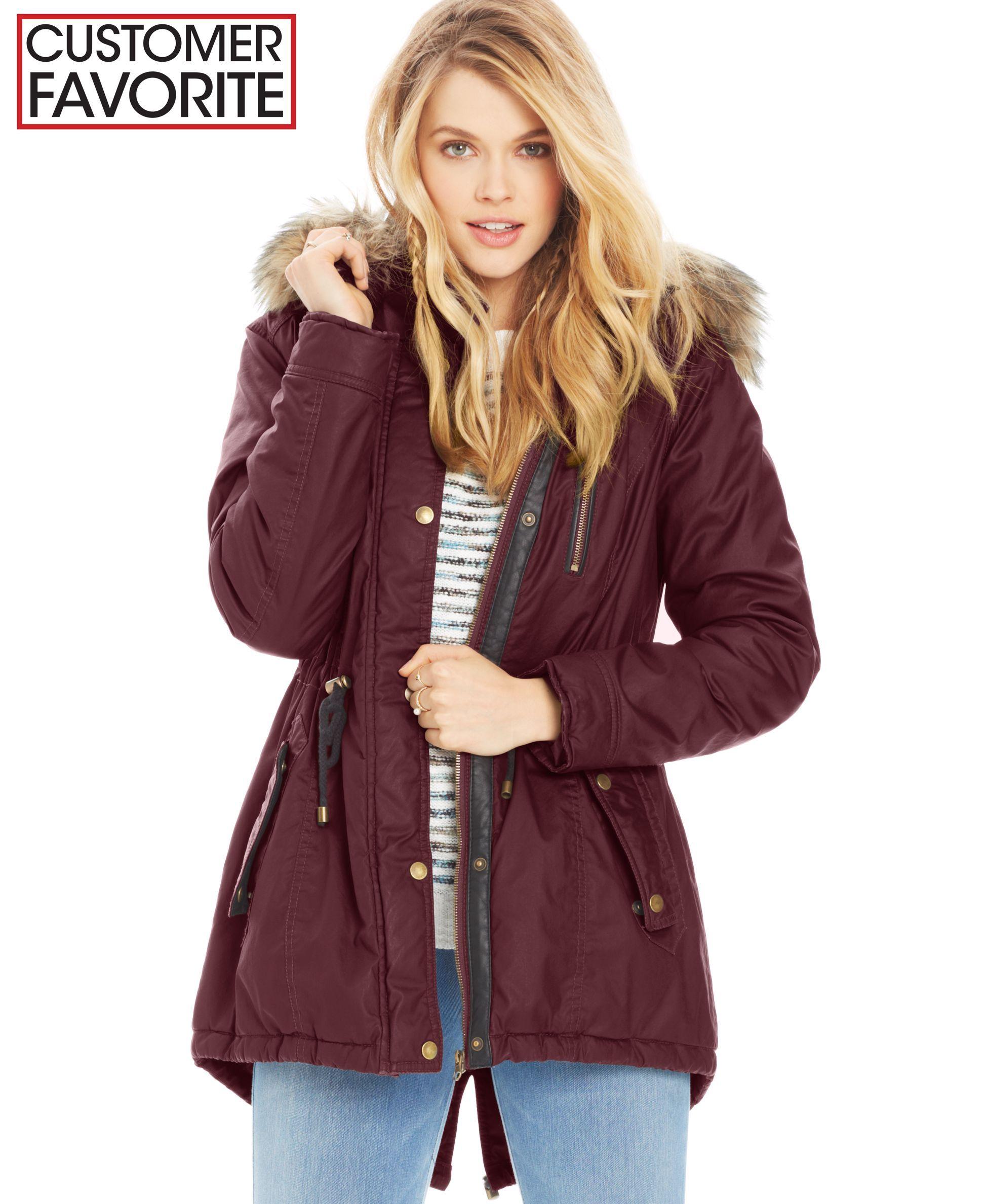 American Rag Coated Parka Coat Juniors Coats Macy S Junior Coats Parka Coat Junior Winter Coats [ 2378 x 1947 Pixel ]