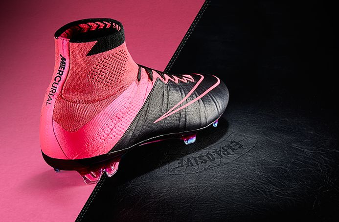 88cce26e9a7d9 Nike Mercurial Superfly Leather FG - Black Black-Hyper Pink-Pink Pow ...