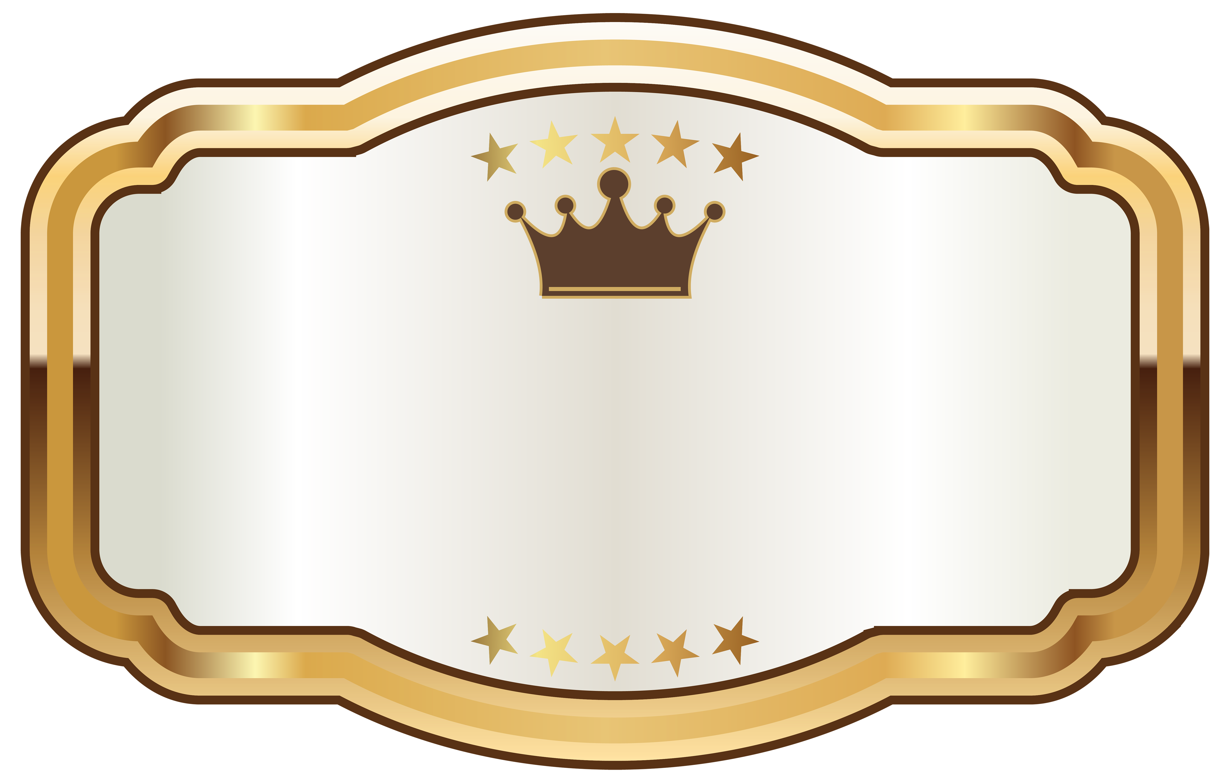 White Label With Gold Crown Png Clipart Image Gallery