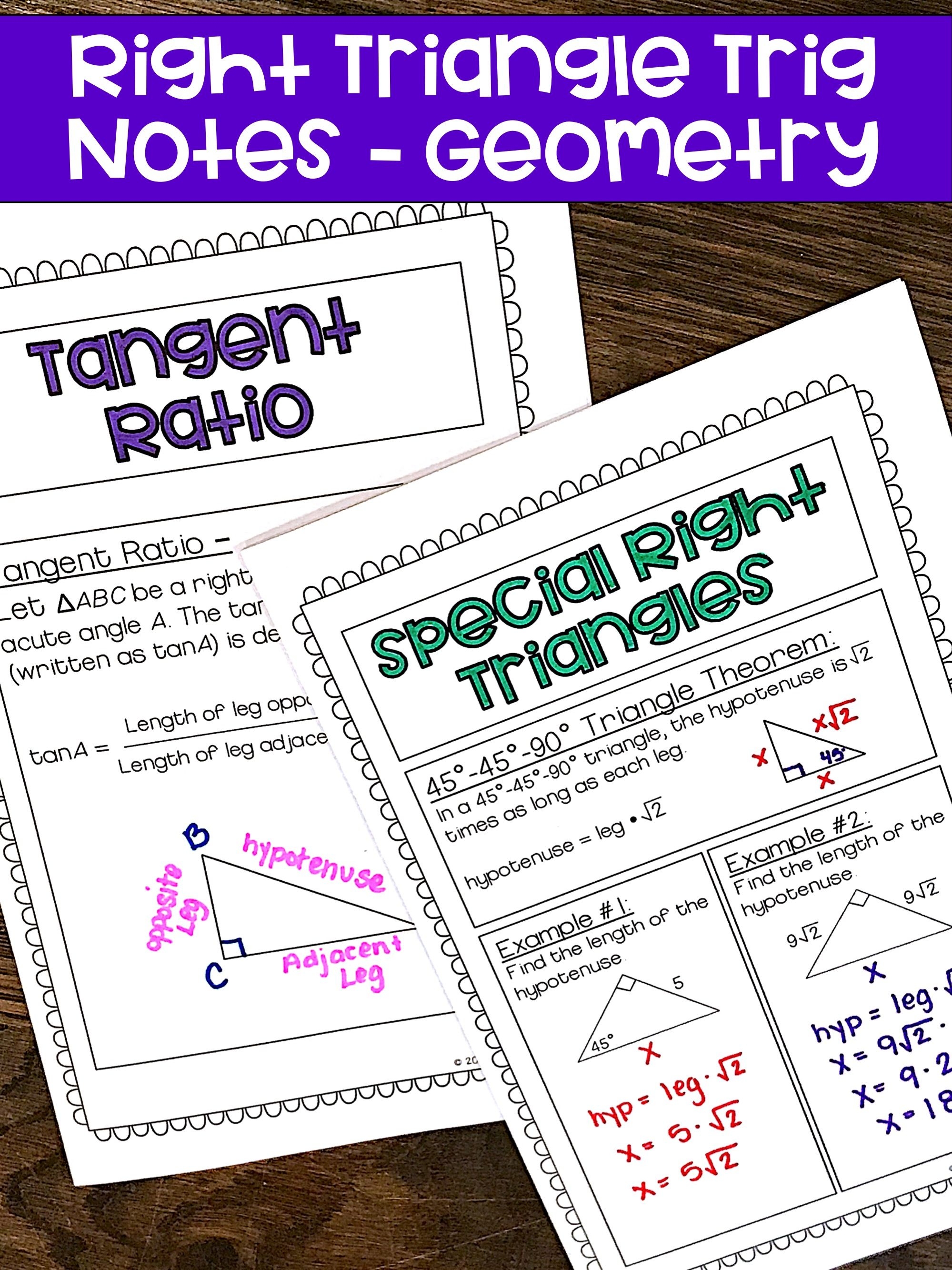 Right Triangle Trigonometry Geometry