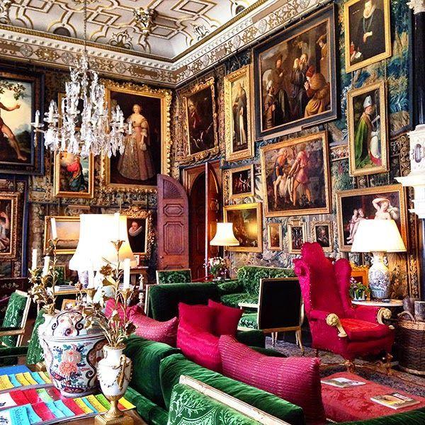 Lavish J E W E L tone interior of Hatfield House, Hertfordshire, UK. #InspiringInteriors #MadeInEngland @hatfield_house