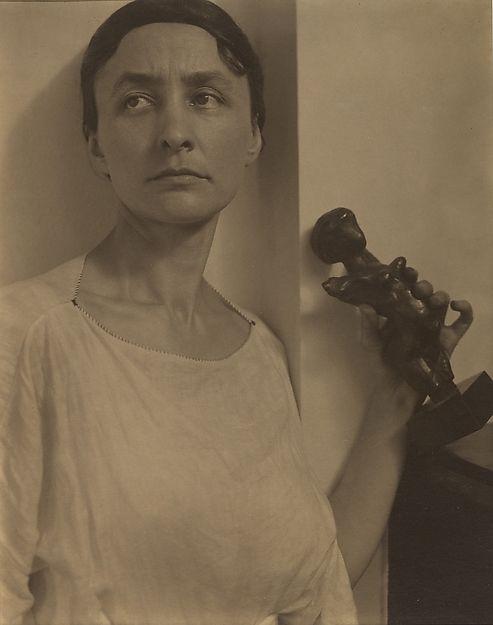Georgia O'Keeffe with Matisse Sculpture Alfred Stieglitz (American, Hoboken, New Jersey 1864–1946 New York) Date: 1921 Medium: Palladium print