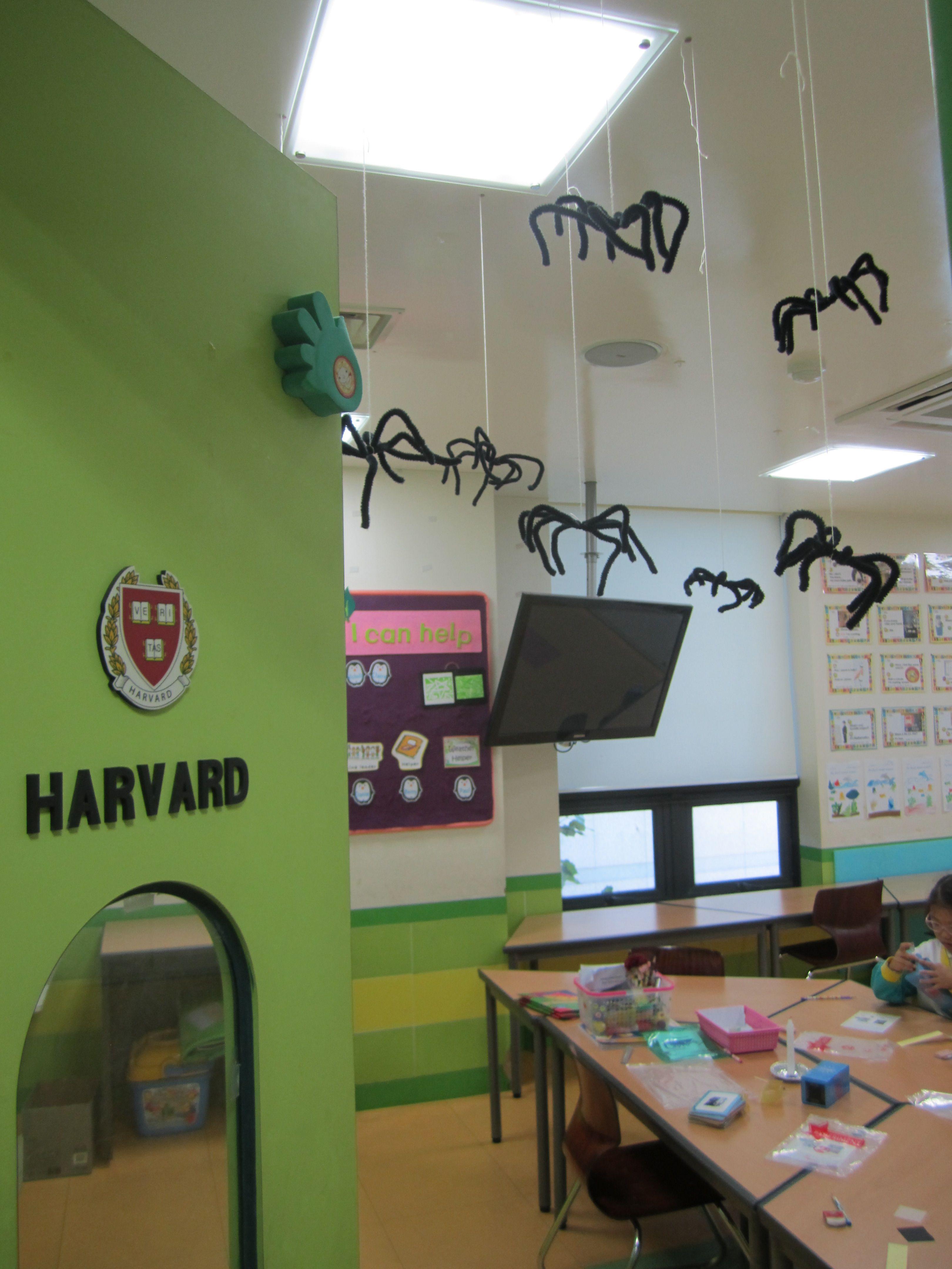 Halloween classroom decorations - Hanging Spiders Halloween Classroom Decoration
